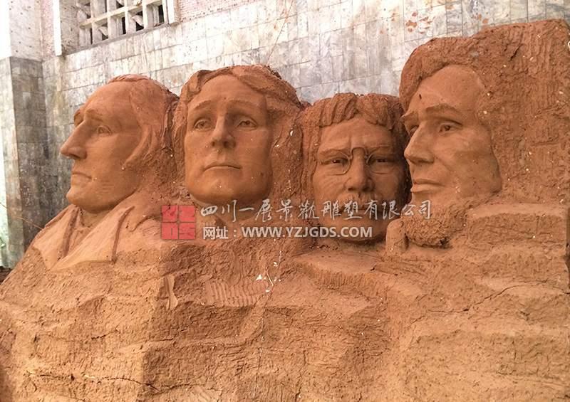 微型景观竞博投注建筑泥塑完成
