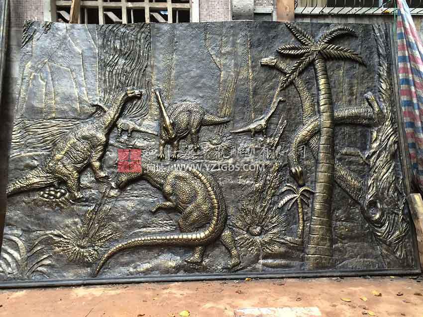 自贡恐龙浮雕