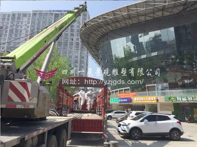 贵州毕节市威宁县乌撒体育广场园林景观不锈钢竞博投注制作(下)